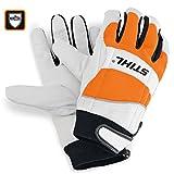 Stihl Schnittschutz-Handschuhe ECONOMY , Größe L - mit Vollleder-Textil-Kombination