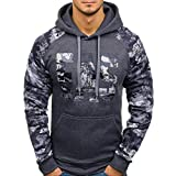 Hoodie Männer,Sannysis Herren Herbst Gedruckten Brief Kapuzen-Sweatshirt Outwear Tops Bluse/Männer Hip Hop Basic Hoodies
