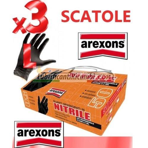 GUANTI SPESSORATI IN NITRILE AREXONS 3 CONF.150pz. tg. L CLASSE 8.0 MIL...