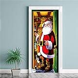 MOIKA Frohe Weihnachten abnehmbare Tür Wandbild Wandaufkleber Weihnachten Home Aufkleber