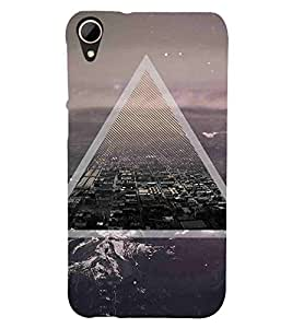 For HTC Desire 828 Dual Sim City, Black, Amazing Pattern, Beautiful Pattern, Printed Designer Back Case Cover By CHAPLOOS