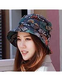 Oudan Sombrero de Mujer Ms Cap Primavera Verano Sombrero para el Sol  Sombrero de Pescador Sombrero Octogonal Gorra Plegable de… 95e4403f8f6
