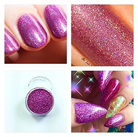 Mermaid Pink Holographic Acrylic Powder Pre Mixed Glitter Nail Extension Art Design 5g Pot