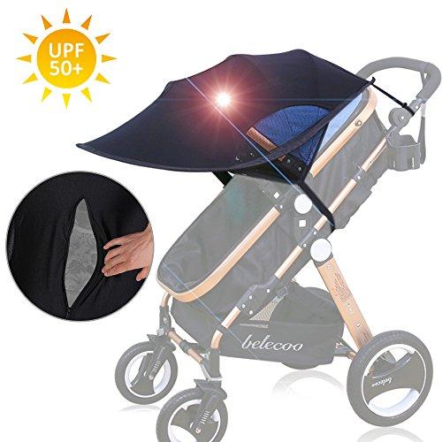 Freesoo capottina parasole passeggino, copertina parasole universale anti-uv anti-veno taspirante per passeggino bébé