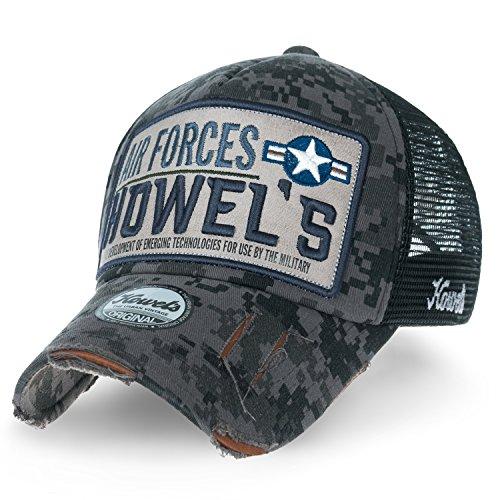 ililily Howels Tarnkleidung (Camouflage) abgenutztes Aussehen Baseball Cap AIR Forces Netz Trucker Cap Hut , Urban (Camouflage Cap Crown)
