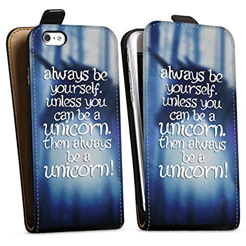 Apple iPhone X Silikon Hülle Case Schutzhülle Einhorn Unicorn Sprüche Downflip Tasche schwarz