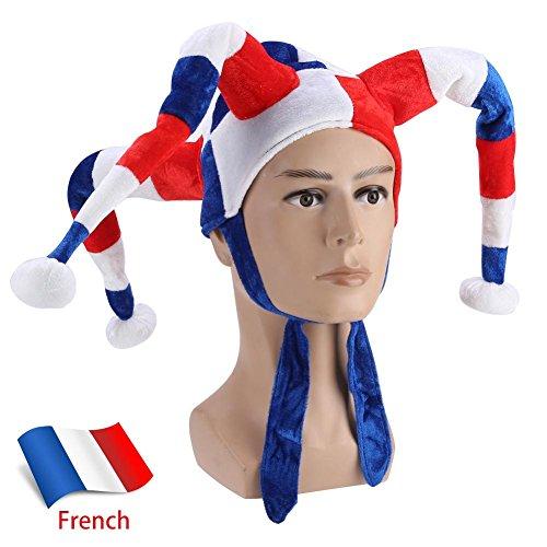 eecoo WM Fußball Fußball Wettbewerbe Hut Halloween Party Kostüm Dekoration Kappe(Frankreich)