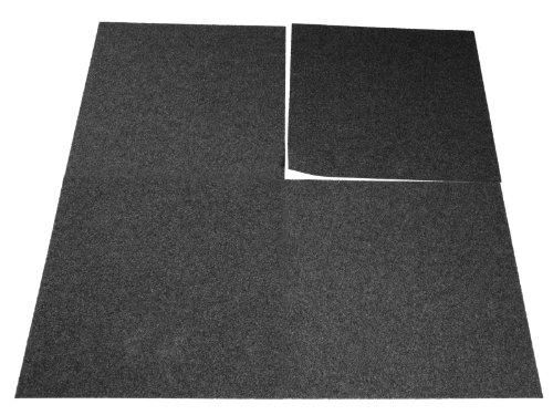 Floori Teppichfliesen Jazz Set - Anthrazit - Premiumklasse (2,5kg/m², antistatisch, bitum)