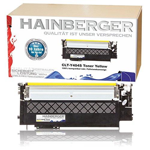 Preisvergleich Produktbild Hainberger XL Toner Yellow kompatibel zu Samsung CLT-404S Xpress C 430 W C 480 W C 480 FN C 480 FW CLT-K404S, CLT-C404S, CLT-M404S, CLT-Y404S