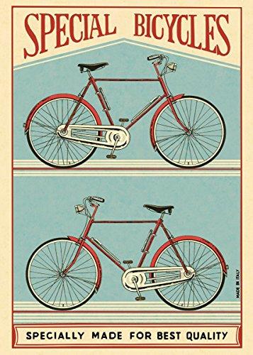 Cavallini & co. speciale bici poster foglio di carta da regalo