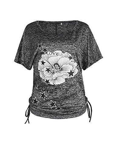 Flying Rabbit Womens Ladies Girls Batwing Sleeve Floral Star Print