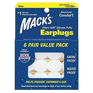 Mack's Pillow Soft Silikon-Ohrstöpsel, 6Paar