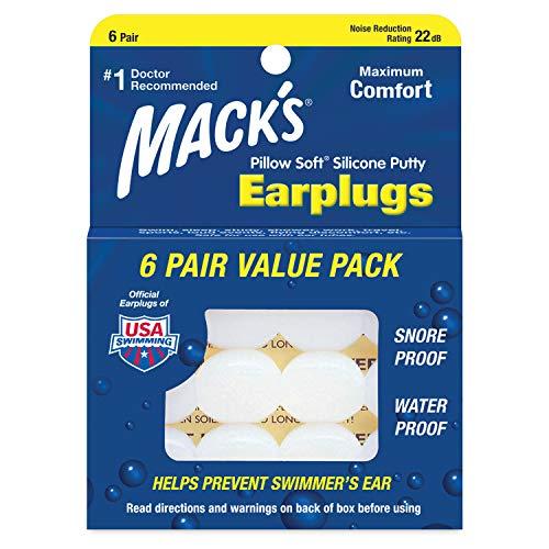 Mack's Pillow Soft Silikon-Ohrstöpsel, 6Paar -