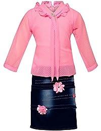 Arshia Fashions 3/4 Sleeves Party Wear Midi Dress