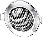 Einbau Lautsprecher Vollmetall 3W - Einbau Ø 60mm - Klemm Montage - Halogen-Design - Chrom