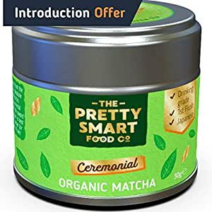 Organic Matcha Green Tea Powder Ceremonial Grade   Japanese Premium Matcha Tea   First Harvest Single Source Leaf   Grade AAA   Detox, Weight Loss Metabolism and Energy   Pure Flavour   30g