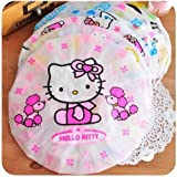 #10: Set of 3 Good Quality Reusable Elastic Shower Cap for Home Use, Salons, Spas & Beauty Parlors – Free-Size Cap for Adults & Children - Multi color
