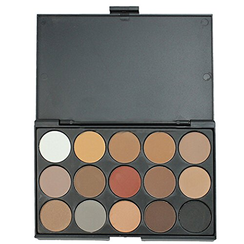 15 Farben Lidschatten Palette matt schimmern Eyeshadow Kit Make-up Tool-Set (Make-up-tools Kit)