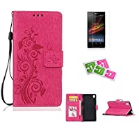 Sony Xperia Z3compact/Z3mini Case, JGNTJLS [New Style for SS/AW] [with Free Tempered Glass Screen Protector and Cleaning Paper] Simple, Stylish, Embossing-Pattern(Pure Candy-Colorful, Artificial-Wrinkle Design), Photos Frame Additional(Transparent HD Sett