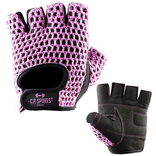 C.P. Sports Fitness Handschuh Klassik Trainings Handschuhe farbig XS/6 = 14-16cm pink für Damen & Herren