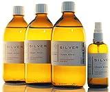 1600ml l'argent colloïdal PureSilverH2O / 3x bouteilles (500 ml / 15 ppm) argent colloïdal + spray (100 ml / 15 ppm) - 99,99% d'argent fin
