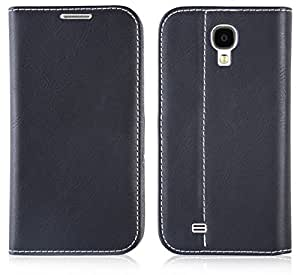 Galaxy S4 Hülle, JAMMYLIZARD Swiss Wallet Leder Flip Cover mit integriertem Magnetverschluss für Samsung Galaxy S4, SCHWARZ