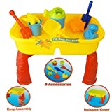 Sand and Water Table Garden Sandpit Play Set Toy Watering Can Spade Sand Bucket (Toy)