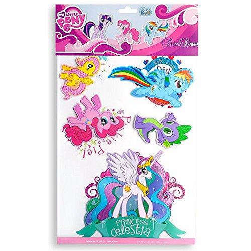 Maxi & Mini, motivo: My Little Pony, un foglio da 3 mega sticker autoadesivi, idea decorativa 3D, grandi, My Little Pony