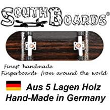 Completo Finger Skateboard Oak/WS/SWZ South Boards® Handmade Wood tarjeta Real Madera