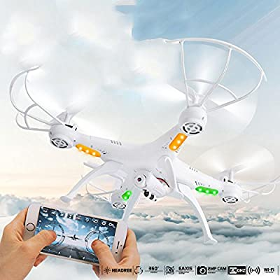Jiayuane X5SW-1 FPV Explorers Drone UFO with HD Wifi Camera,Remote Control Drone High and Low Speed Switching, 360 Degree All-round 3D Tumbling Helicopter RC Airplane Toy for Kids by Cewaal