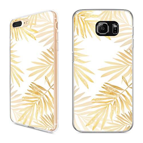 Handyhülle Tropical Gold für iPhone Apple Hülle Silikon Palmen Tropisch Maserung Tropen Dschungel, Hüllendesign:Design 5 | Silikon Klar, Kompatibel mit Handy:Apple iPhone Xr - Dschungel-palme