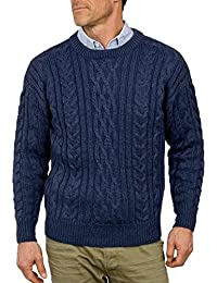 Wool Overs Pull irlandais homme en pure laine