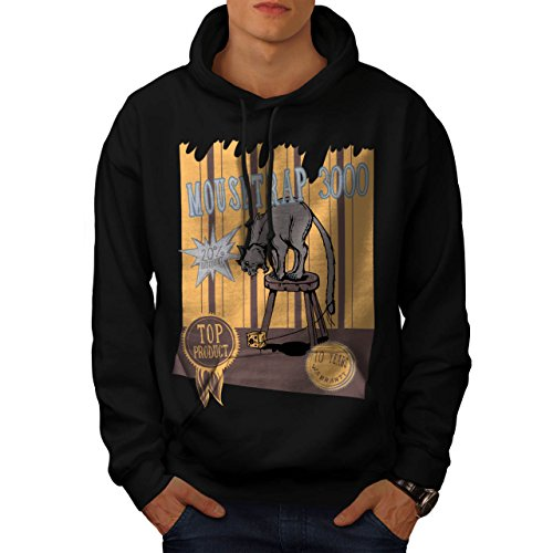 mouse-trap-cat-bait-cheese-lure-men-new-black-m-hoodie-wellcoda
