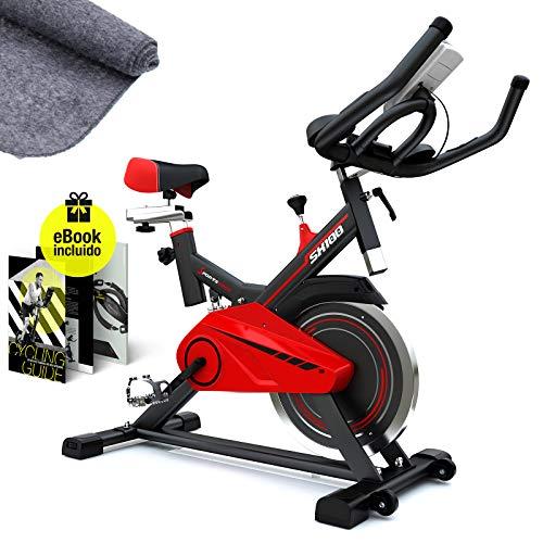 Sportstech SX100 Bicicleta Indoor; Volante de inercia 13kg; reposabrazos Acolchados