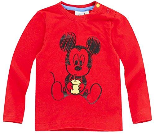 Tee shirt maniche lunghe Bambino Ragazzo Baby Topolino rosso di