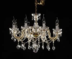 crystal chandelier 8 arms brass