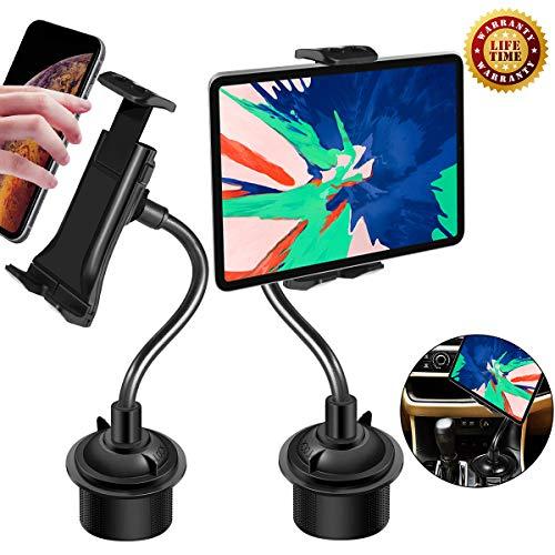 g für Getränkehalter, 2 in 1 Tisch&Handy Universal Verstellbarer Schwanenhals Autohalterung für Samsung Galaxy Note9 S10 S9 und für iPhone X/XR/XS Max und für iPhone iPad Pro ()