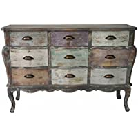 Comparador de precios Casa-Padrino Country House Style Shabby Chic Chest Gray-Brown/Multi Colored 122 x 42 x H. 82 cm - Country House Style Living Room Furniture - precios baratos