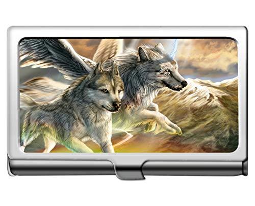 Brieftasche Kreditkarte ID-Etui/Halter, Animal Wolf Vinyl Professioneller Visitenkartenhalter -
