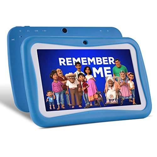 BENEVE Kinder Tablet PC 7 Zoll Android 7.1 OS Kinder Tablets W-LAN iWawa Vorinstallierter Quad Core HD Touchscreen 1 GB RAM 8 GB Speicher WiFi Bluetooth Dual Kamera mit kindersicherer Silikonhülle Touch-screen Bluetooth Dual