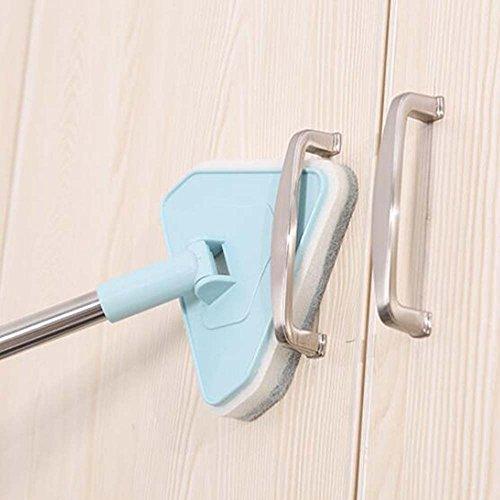 XGLL Spin Boden Schwamm Reinigung Mop Lange Wanne Reinigungsbürste Dreieckige Reinigung Mop Für Küche Badezimmer Badewanne Fenster Ecke