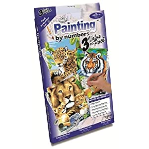 Royal Brush Junior Paint By Numbers Jungle 3 per pack