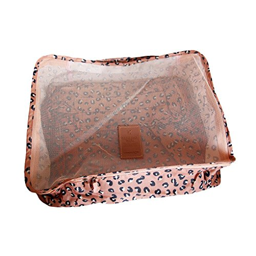 FakeFace 6 PCS Gepäcktaschen Gepäckabgabe Aufwahrungstasche Reise Gepäck Spielraum Reisetaschen Kofferorganizer Verpackungs Beutel Unterwäsche Bekleidung Schuhe Reisentaschen Gepäck