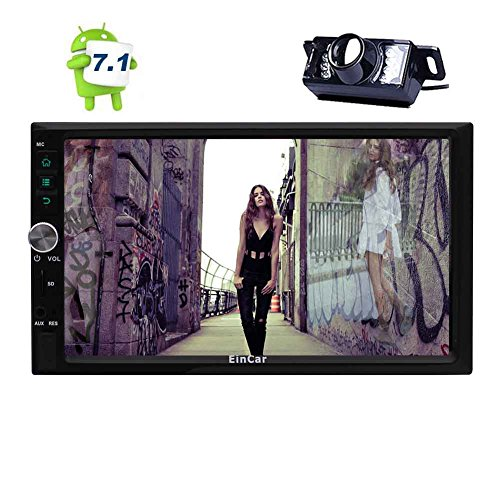 Aggiornamento Android 7.1 Car Stereo System 7 Pollici Doppio 2 DIN GPS Car Video Player Autoradio Bluetooth Navigazione capacitiva dello Schermo di Tocco del PC Quad Core Head Unit CPU con la Mac