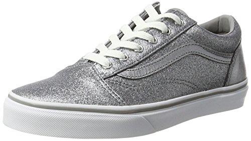 Vans Unisex-Kinder Old Skool Sneaker, Grau (Glitter + Metallic/Frost Gray), 35 EU