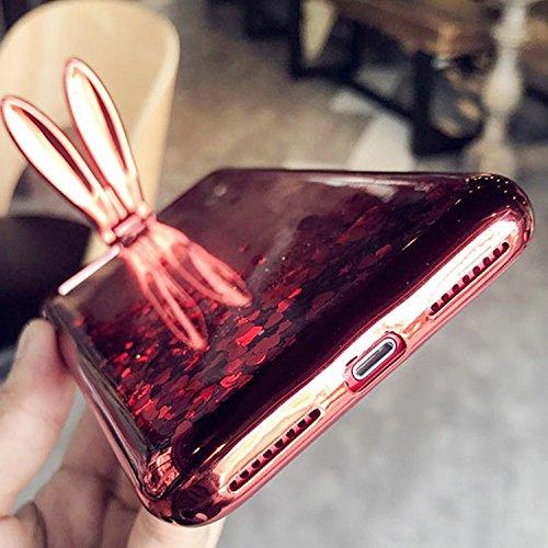 Case per iPhone 7 Plus,Cover per iPhone 7 Plus ,Bonice Ultra Slim Diamante Bling Specchio Glitter Lusso Cristallo Strass Morbida Rubber Bumper 360 Gradi [Rotazione Grip Ring Kickstand] con Supporto De Modello 07