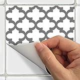 SnazzyDecal Fliesenaufkleber Marokkanischer 10,2x 10,2cm schälen und Stick für die Küche und Bad f070W-4 4x4in