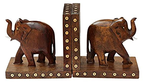 Wooden Book Ends - Book Organizers - Home Decor / Study Room Accessories - Arts and Crafts / Table Decor / Figurines / Gifts for Kids , Women , Men
