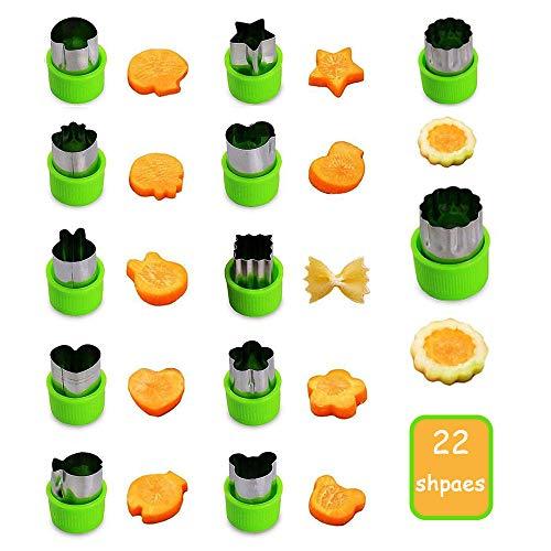 (Gemüse Obst schneiden Form, Edelstahl Cutter Formen für Cookie / Nudeln / Fondant / Kekse, dekorative Lebensmittel Backen Werkzeuge (22er Set))