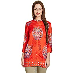 W for Woman Women's Tunic Top (17FE32717-59167_18_RED)